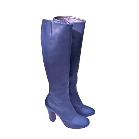 Bottes à talons MICHEL PERRY Bleu, bleu marine, bleu turquoise