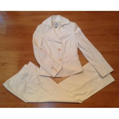 Tailleur pantalon MANGO Blanc, blanc cassé, écru
