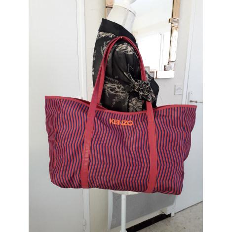 Sac XL en tissu KENZO rayé orange vif/bleu roy et rose