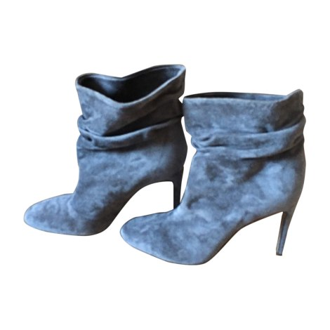 Bottines & low boots à talons BURBERRY Gris, anthracite