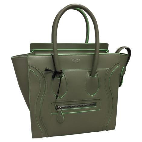 Sac à main en cuir CÉLINE Luggage Vert