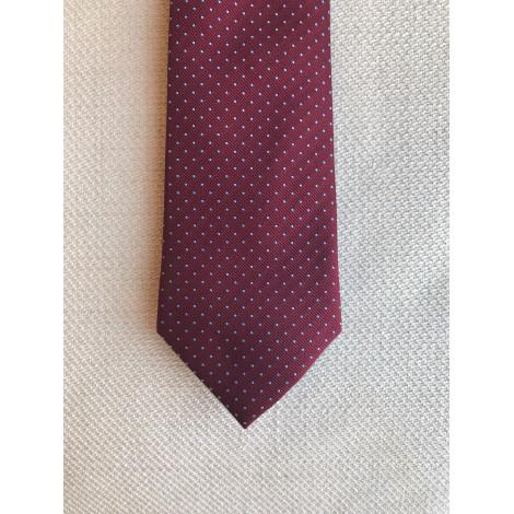 Cravate CAFÉ COTON Rouge, bordeaux