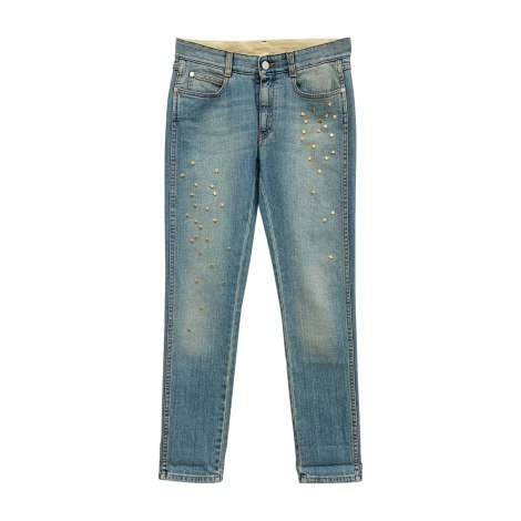 Jeans slim STELLA MCCARTNEY Bleu, bleu marine, bleu turquoise