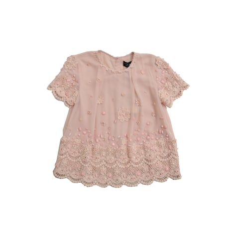 Top, Tee-shirt TWIN-SET SIMONA BARBIERI Rose, fuschia, vieux rose