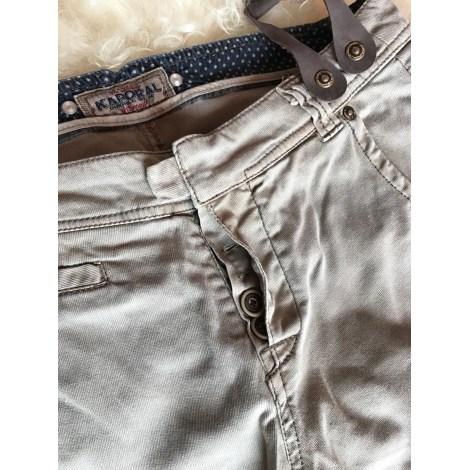 Pantalon carotte KAPORAL Beige, camel