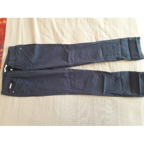 Pantalon droit CAMAIEU Bleu, bleu marine, bleu turquoise
