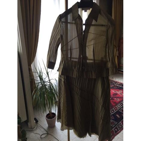 Tailleur jupe UN JOUR AILLEURS Doré, bronze, cuivre