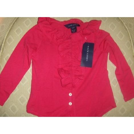Top, Tee-shirt RALPH LAUREN Rose, fuschia, vieux rose