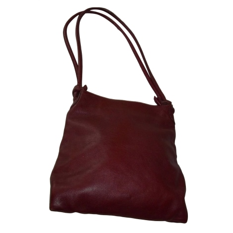 Sac à main en cuir LUPO BARCELONA Rouge, bordeaux