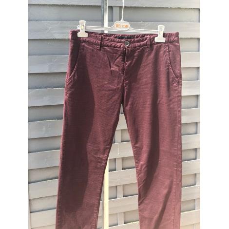 Pantalon slim IKKS Rouge, bordeaux