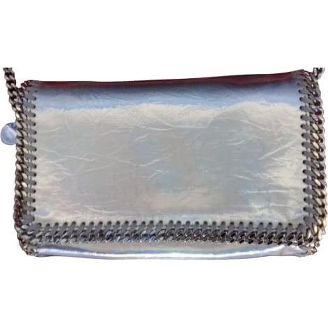 Sac en bandoulière en tissu STELLA MCCARTNEY Argenté, acier