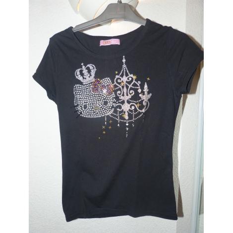 Top, Tee-shirt HELLO KITTY Noir