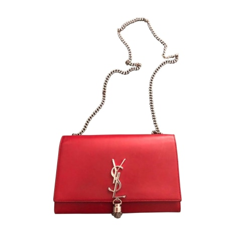 Leather Handbag YVES SAINT LAURENT Rouge