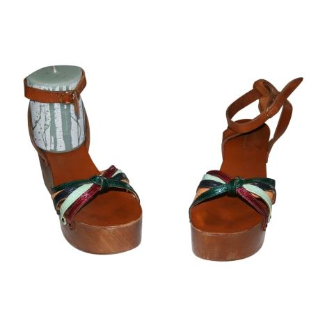 Sandales compensées ISABEL MARANT Multicouleur