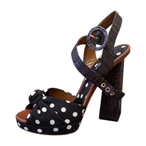 Sandales à talons DOLCE & GABBANA Noir