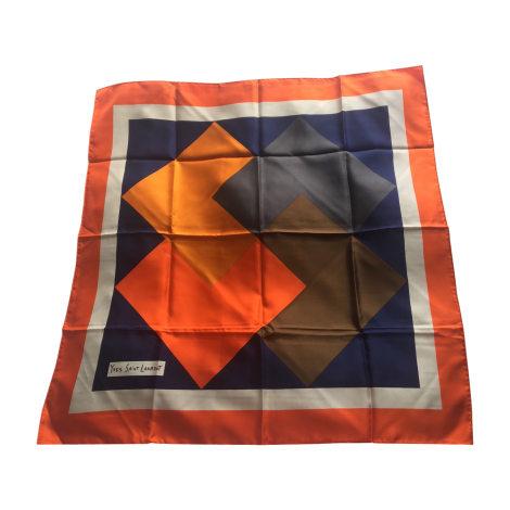 Silk Scarf YVES SAINT LAURENT Orange