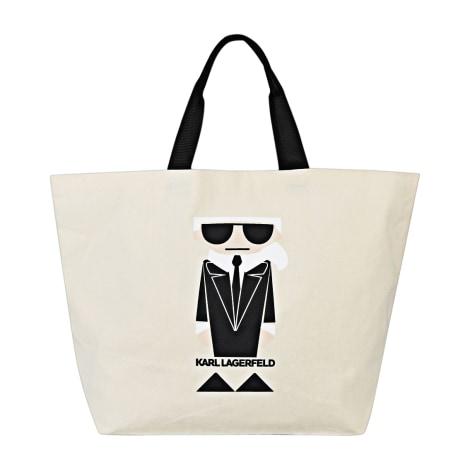 Stofftasche groß KARL LAGERFELD Weiß, elfenbeinfarben