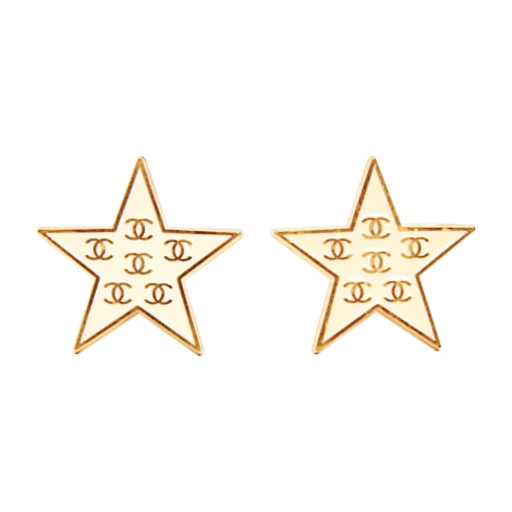 Boucles d'oreille CHANEL Doré, bronze, cuivre