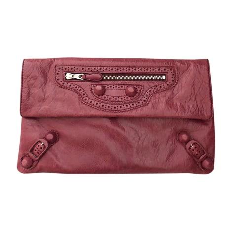 Handtasche Leder BALENCIAGA Pink,  altrosa