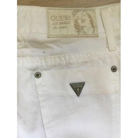 Jupe courte GUESS Blanc, blanc cassé, écru