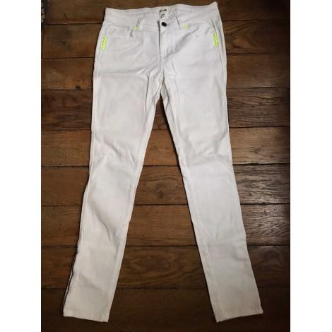 Jeans slim BEL AIR Blanc, blanc cassé, écru