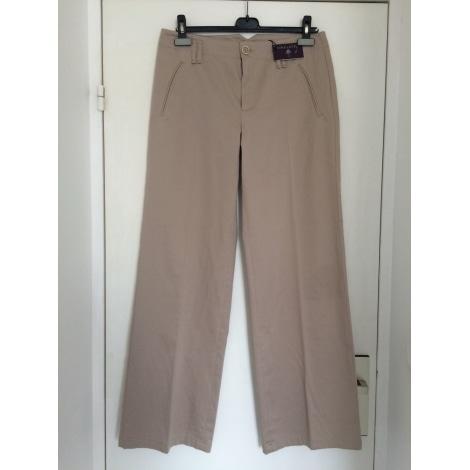 Pantalon large ONE STEP Beige, camel
