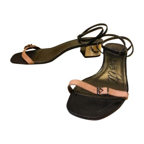 Sandales plates  LANVIN Noir