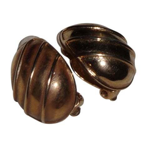 Boucles d'oreille NINA RICCI Doré, bronze, cuivre