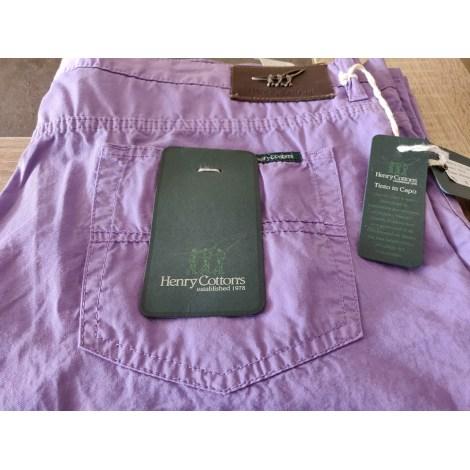 Pantalon slim HENRY COTTON'S Violet, mauve, lavande