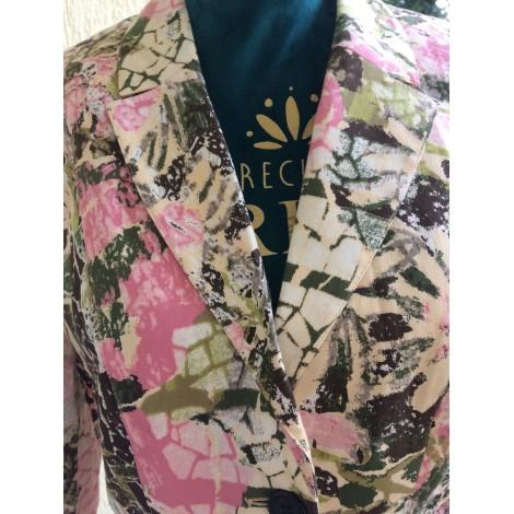 Tailleur jupe SYM Vert/rose/beige