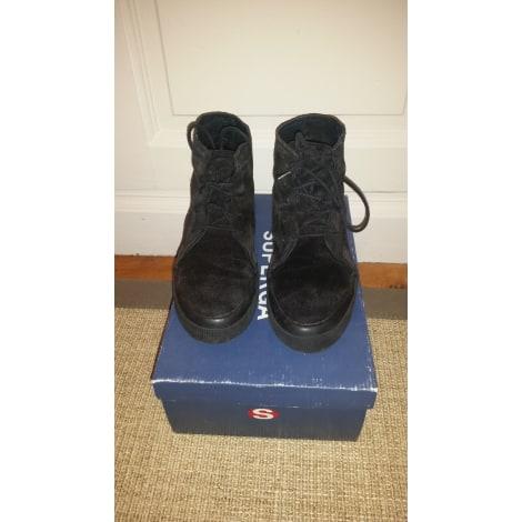 Chaussures à lacets SUPERGA Noir