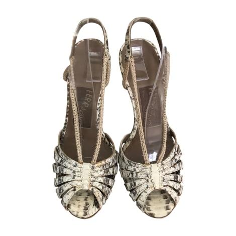 Sandales à talons SALVATORE FERRAGAMO Imprimés animaliers