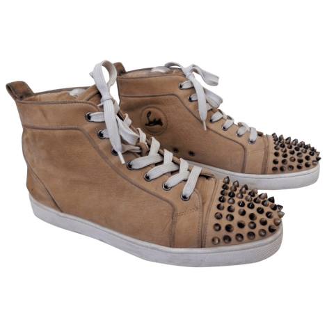 Baskets CHRISTIAN LOUBOUTIN Louis Beige, camel