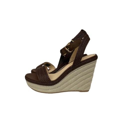 Sandales compensées TOMMY HILFIGER Marron