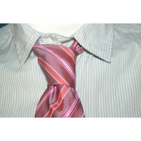 Cravate PIERRE CLARENCE Rose, fuschia, vieux rose