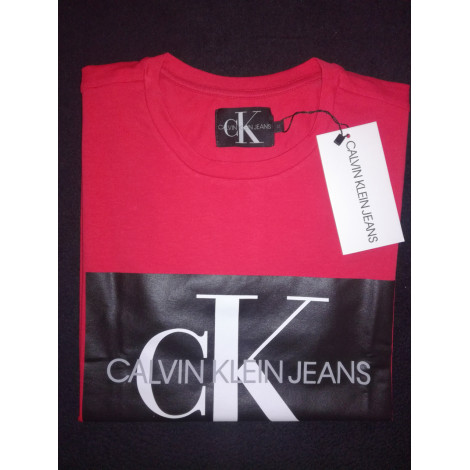 Tee-shirt CALVIN KLEIN Rouge, bordeaux