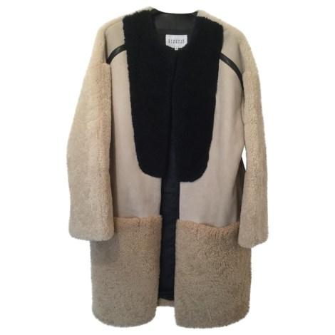 Manteau en fourrure CLAUDIE PIERLOT Beige, camel