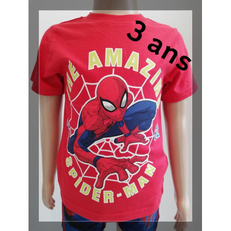 Tee-shirt MARVEL Rouge, bordeaux