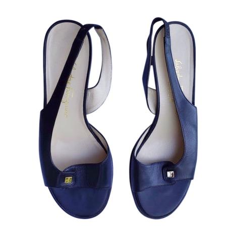 Sandales à talons SALVATORE FERRAGAMO Bleu, bleu marine, bleu turquoise
