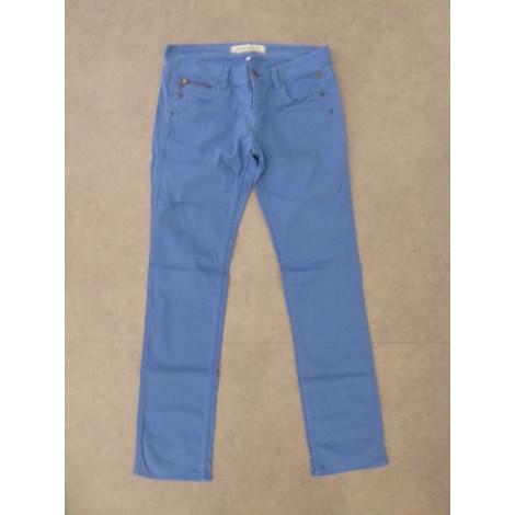 Pantalon droit FREEMAN T PORTER Bleu, bleu marine, bleu turquoise