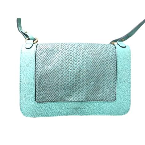 Sac à main en cuir SEQUOIA turquoise donc bleu ou vert selon chacun  ;)