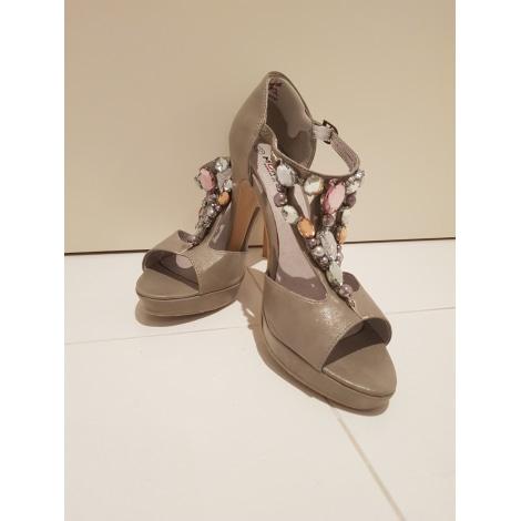 Sandales à talons MORGAN Beige, camel