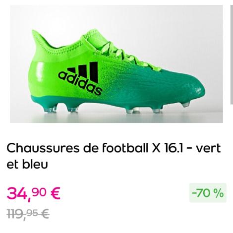 Chaussures de sport ADIDAS Vert