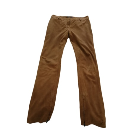 Pantalon droit BERENICE roux
