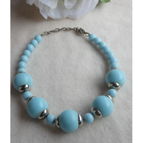 Collier 100% VINTAGE Bleu, bleu marine, bleu turquoise