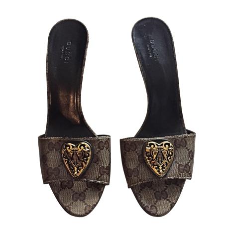 Sandales à talons GUCCI Marron