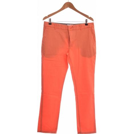 Pantalon droit ELEVEN PARIS Orange