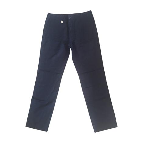 Pantalon droit LOUIS VUITTON Bleu, bleu marine, bleu turquoise
