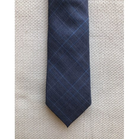 Cravate T.M LEWIN Bleu, bleu marine, bleu turquoise
