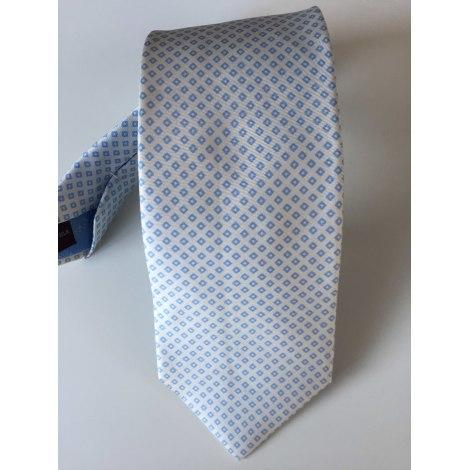 Cravate T.M LEWIN Blanc, blanc cassé, écru